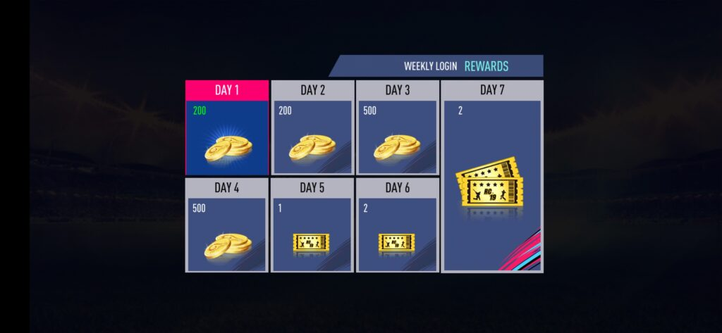 Daily Coins for login