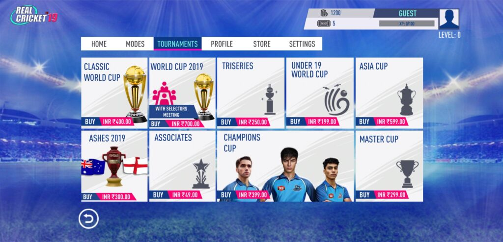 Screenshot showing In-app purchase in the game