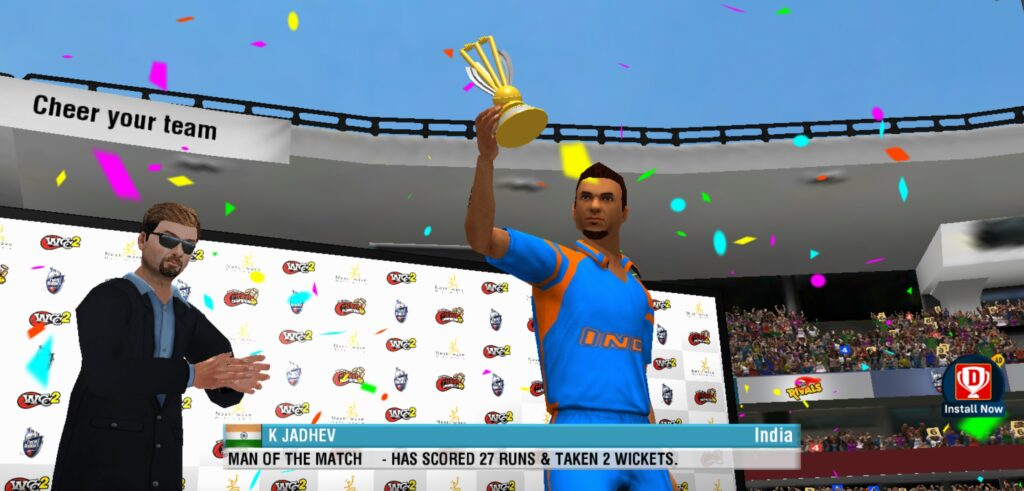 World Cricket Championship end of the game award ceremony