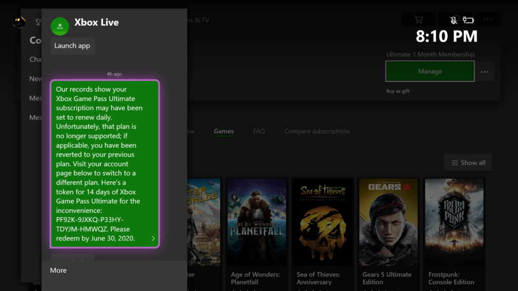 Xbox game plan 14 day trial