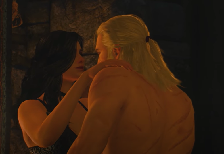 The witcher 3 intimate scene